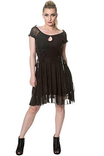 Banned Pitch Black Dress Robe noir Noir
