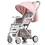 Poussette bébé portable peut s'asseoir poussettes inclinables landaus bébé enfant...