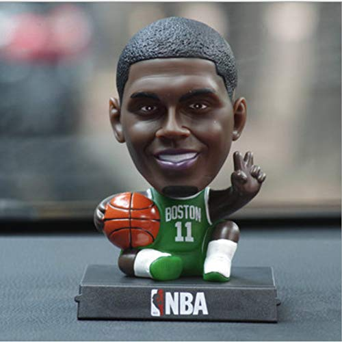 UDstrap Q Version Von NBA Basketball Football-Star MES Curry James Harden Kobe Jordan Ronaldo Shaking His Head Doll Car Accessoires 12cm B (Mini Cars Lego)
