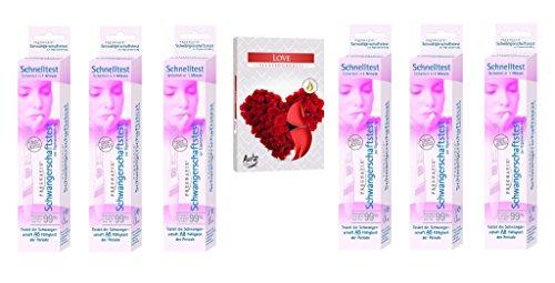 ProjektEtplix Bundle Schwangerschafts Schnelltest 6er Pack von Pregnafix plus 6er Pack Teelichter Duft Liebe