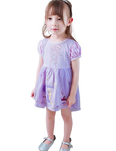 Baby Kostüm Rapunzel - Lito Angels Baby Mädchen Prinzessin Rapunzel Kleid Kostüm Weihnachten Halloween Party Verkleidung Karneval Cosplay Kinder 18-24 Monate