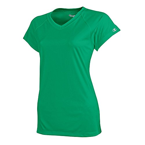 Champion Damen V-Neck Tee Essential Double Dry Kelly Green