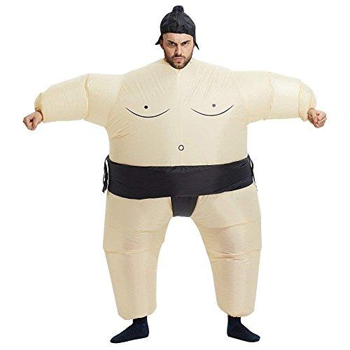 BIEE, Aufblasbare Fett Chub Lustiger Anzug Sumo Wrestler Kostüm Cosplay Outfit Blow up Halloween Party Kostüm (Sumo Wrestler-Erwachsene)