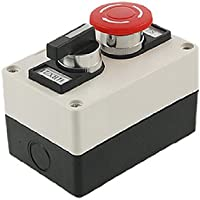 Rojo Seta de parada de emergencia Interruptor pulsador estación