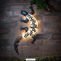 Outdoor Perfect Ultra bright LED Solar Light Gecko Wall Art Garden Ornament by Garden 76945