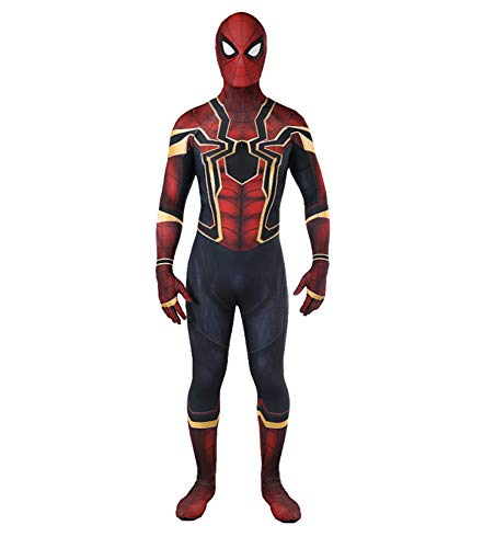 HEROMEN Avengers Iron Spiderman All Inclusive Strumpfhose,Halloween Cosplay Anime Erwachsenen (Iron Mann Kostüm Baby)
