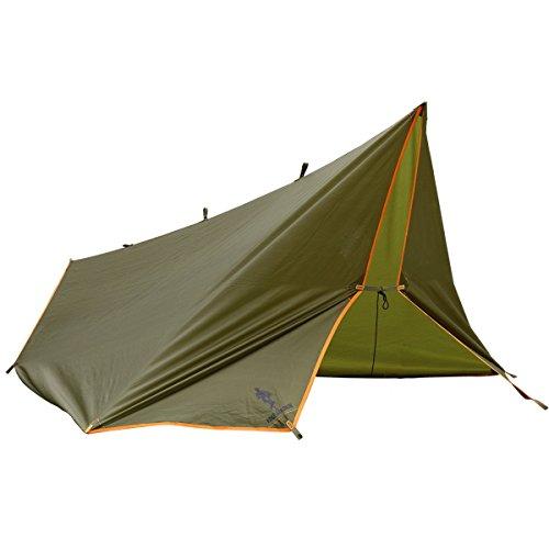 FREE SOLDIER Tarp for Camping Outdoor Hiking Waterproof Portable Multifunctional Awning Traveling Tent Tarp Shelter Sunshade Awning (Wolf Brown)