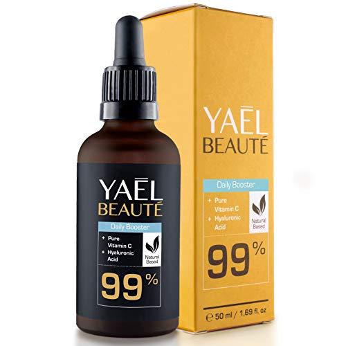 VERGLEICHSSIEGER 2018*: Vitamin C & Hyaluronsäure Serum  Dermaroller geeignet  Anti-Age & Anti-Falten Behandlung  99% Natürlich...