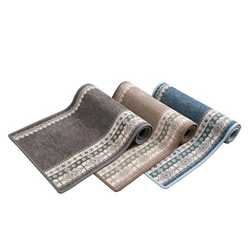 J&X Küche Matte tür Matte tür Carpet Schlafzimmer Foyer Anti-öl Matte Bad saugfähigen Matte Hause (Color : B, Size : 50 * 100CM) -