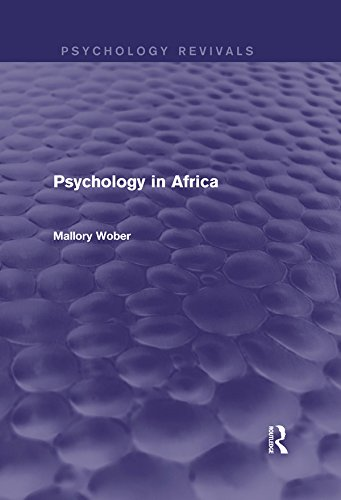 Psychology in Africa (Psychology Revivals) por Mallory Wober