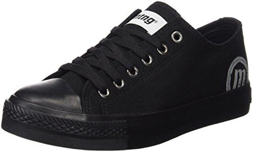 MTNG Attitude, Zapatillas para Mujer, Negro (Canvas Negro / Piso Negro), 39 EU