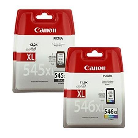 Canon Tinte Farbe (Tintenpatronen mit hoher Kapazität, von Canon PG545, schwarz und Farbe, XL/CL546XL)