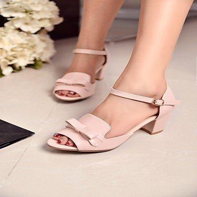 LvYuan Da donna Sandali Finta pelle PU (Poliuretano) Estate Autunno Footing Fiocco Quadrato Bianco Blu Rosa 5 - 7 cm blushing pink