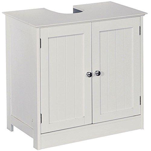 A Brand New Under Sink Basin Storage Unit White Wood