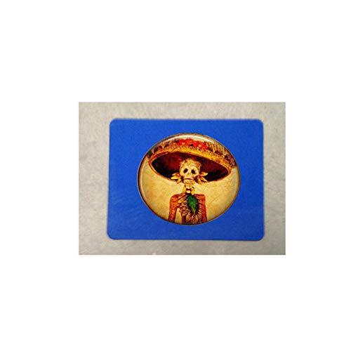 bab Mauspad mit Skelett und Hut Calaveras Day of The Dead Woman Skelett in Fancy Hat - Dia de Los Muertos