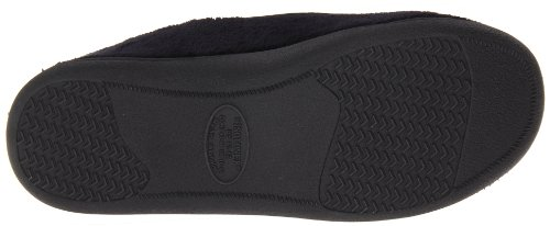 Microterry Memory Foam Totes Isotoner Hommes Indoor / Outdoor Slip-On chaussons Noir