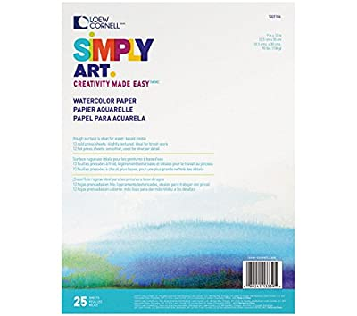 "25 Sheets Simply Art Watercolor Paper Pads 9""X12"" 1021104"