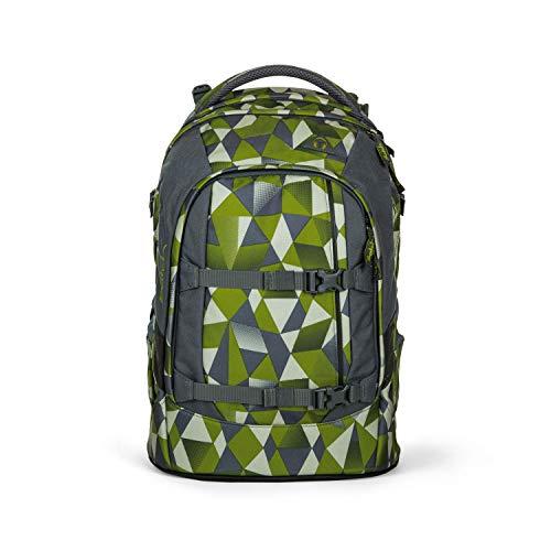satch Pack ergonomischer Schulrucksack für Mädchen und Jungen - Green Crush