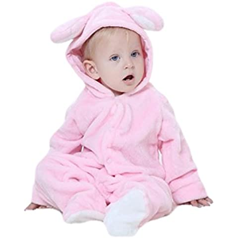 Tkria Bebé Albornoz Conejo Abrigo Mangas Largas Capucha oso Pijamas una pieza