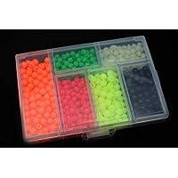 Tigofly 850 unids/caja de plástico de pesca cuentas redondas y ovaladas luminosas de mar flotante señuelo cebo Tackle