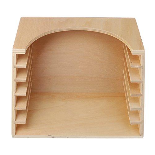 KESOTO Niños Montessori Materials Toy Pratical Clothing Dressing Box Stand 6 Grids