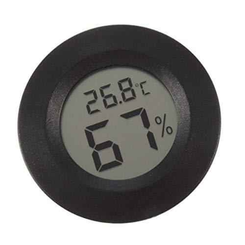Outtybrave LCD Digitale Temperatura umidità Meter Mini termometro igrometro per Automobili Hom Ufficio, plastica, Nero, 45 * 14mm