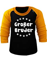 78325a5b93f2dd KLEINER FRATZ Baby/Kinder Baseball Langarm T-Shirt - Großer Bruder