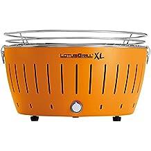 LotusGrill G-OR-435 - Barbacoa de carbón sin humo XL, color naranja