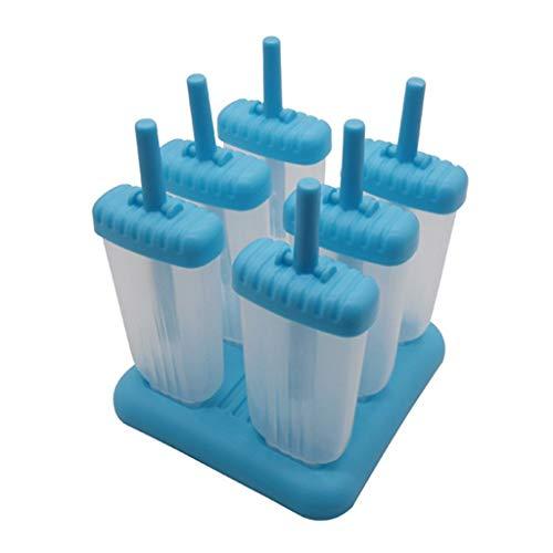 Yintiod 6 Zellen Quadrat/Pentagramm Gefrorene Eiscreme Form mit Halter EIS am Stiel Hersteller EIS am Stiel, der Geräte für Hauptküche Handmakers Sortiert