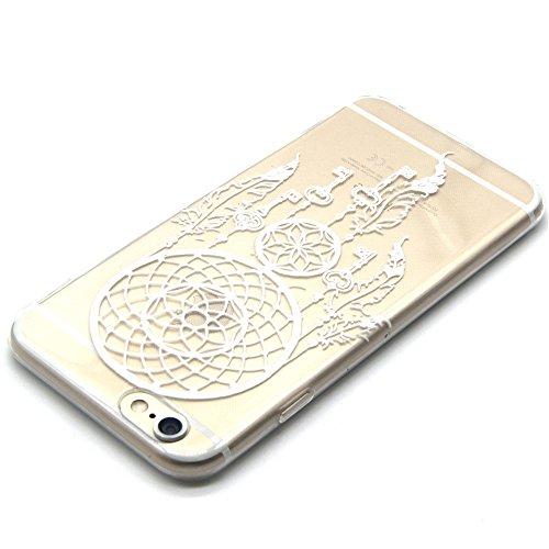 iPhone 6 Caso,iPhone 6s Cassa, CLTPY Marvel Colorato Belle Particolari Dipinto Disegni Shell Skin in Liscio Smooth Toccare Gomma,Resistente Urti Antiurto Chiaro Cristallo Posteriore Involucro Guscio p Campanula Chiave