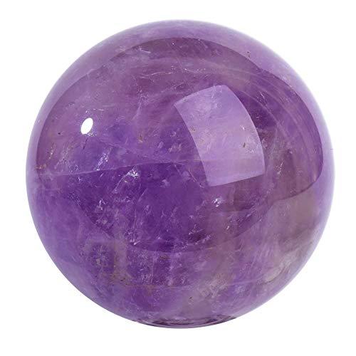 FENGJJ Amethyst Crystal Ball - natürliche Quarz handgefertigte Kunst rohen Edelstein poliert, für Geburtstagsgeschenke und Geburtstagsgeschenke,6cm -