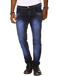 Jugend Blue Coloured Washed Stretchable Skinny Fit Jeans For Men