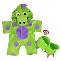 Build Your Bears Wardrobe 15-Inch Clothes Fit Build Bear Teddies My Green Dinosaur Costume