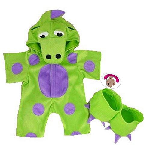 construya-su-bears-armario-15-inch-ropa-fit-construye-oso-diseo-de-ositos-mi-disfraz-de-verde-dinosa