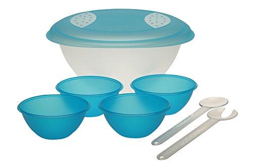 Okt kids insalata–set 6pezzi, fresh-blue, Ø 34 x 16,5 cm, 1 x 6 l / 4 x 0,5 l
