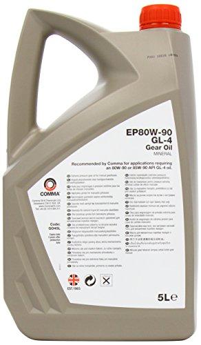 Comma GO45L Liquide d'engrenage EP80W90 GL4 5 l pas cher