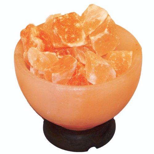 FRP structural Himalayan pink salt Lamp Crystal Air Purifier Fire Bowl,...
