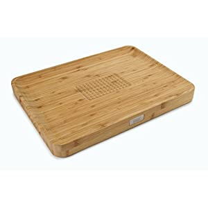 Joseph Joseph Cut and Carve Bamboo Chopping Board, Wood, Large