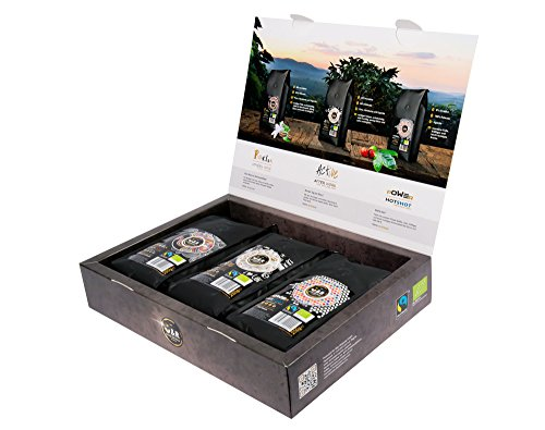 C&R coffeeandrelax, Geschenkset - TASTEBOX 3 Premium-Sorten (Relax, Active, Power), je 250g, extrem...