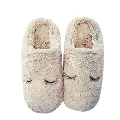 Pantofole coppia mezza confezione con ciabattine in cotone caldo coniglio coniglio caldo adatto per 42/43