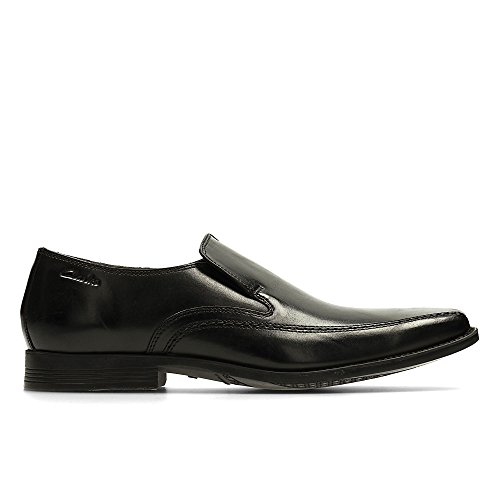7ecb7c2be72c4 Clarks Men s Slip-On Loafer Flats Shoes Acre Out Black Leather
