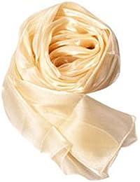 Bufanda Del Abrigo Largas Suaves Elegante de Seda Chal Gasa para Mujer Señora