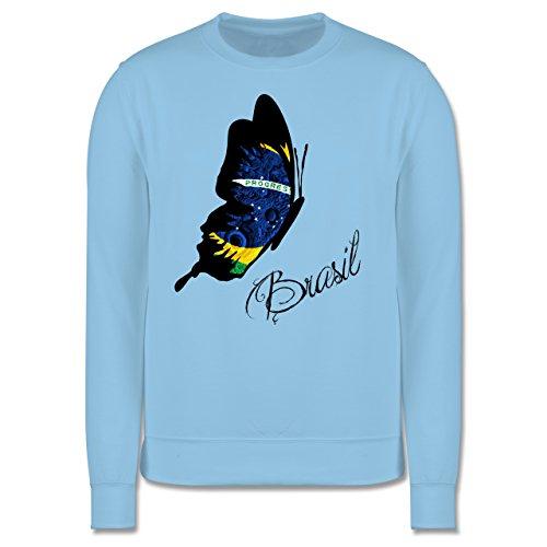 Länder - Brasil Schmetterling - Herren Premium Pullover Hellblau