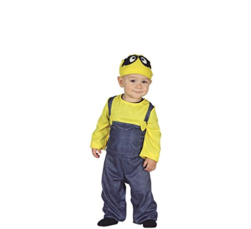 Guirca Badeanzug Minions Neonfarben 12/24 Monate, Farbe Gelb und Blau, 1-2 Jahre (92-93 cm), 87625 (Baby Kostüm Minion)