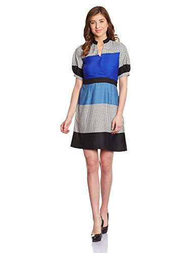 Shakumbhari Women's Cotton Pleated Dress (SW-692-S_Blue)  available at amazon for Rs.518