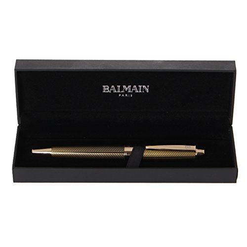 Balmain Kugelschreiber Goldmotiv in Geschenk-Etui, schwarz