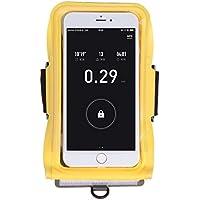 Correr el brazalete del teléfono bolsa de brazo deportivo al aire libre bolsa de la muñeca de la aptitud natación impermeable bolsa de pantalla táctil de silicona suave funda protectora iPhone Huawei Samsung brazalete HUACANG ( Color : Amarillo , Size : S )