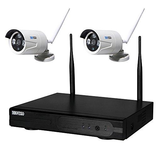 4-KANAL WLAN HD Komplettset Videoüberwachung mit 2 x Dome Kamera HDMI Nachtsicht