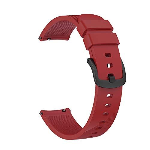 Watch Bracelet 20 Mm, CHshe Uhrenarmband Groß Silikonarmband Armband Band Strap Ersatband Mit Edelstahl Metall Schließe Für Herren Damen Für Ticwatch E Smart Watch