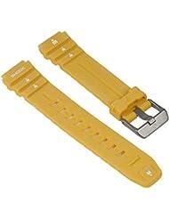 Timex Ironman para banda reloj de pulsera pu banda resistente al agua amarillo 18mm compatible con T5K430